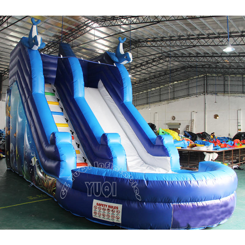 YQ327 Hot sale inflatable slide with pool