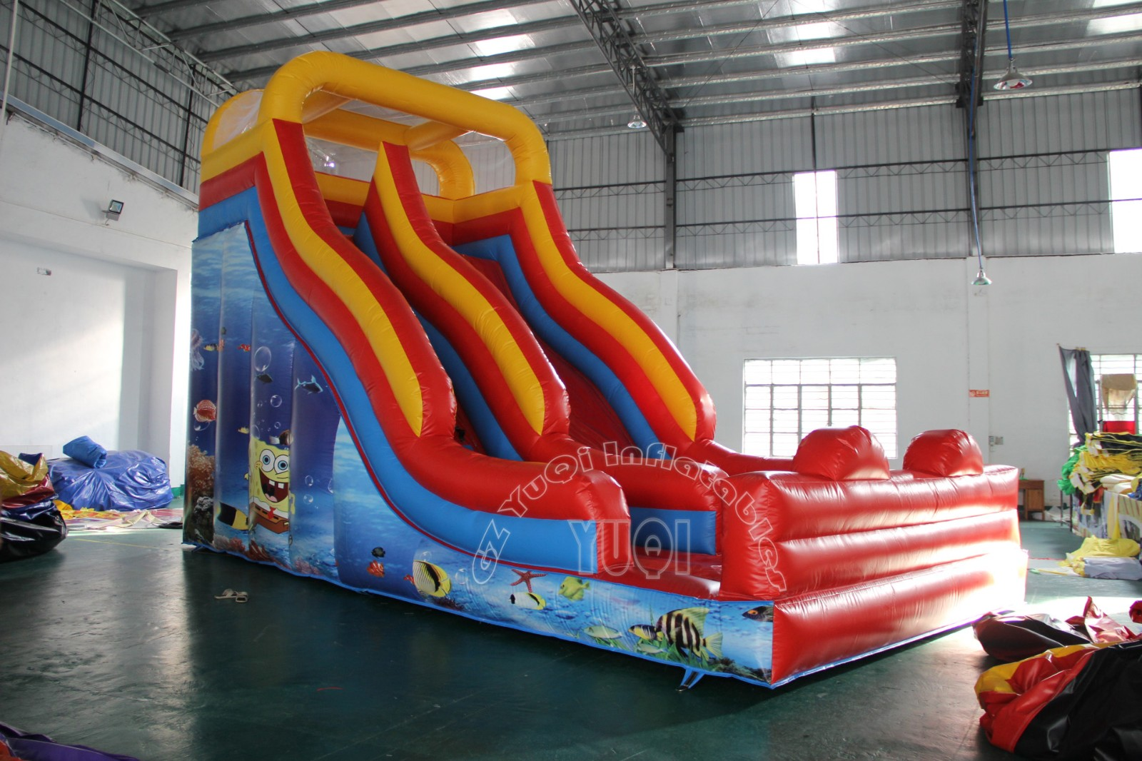 YUQI-Yq328 Cheap Price Inflatable Slides With Arch For Outdoor