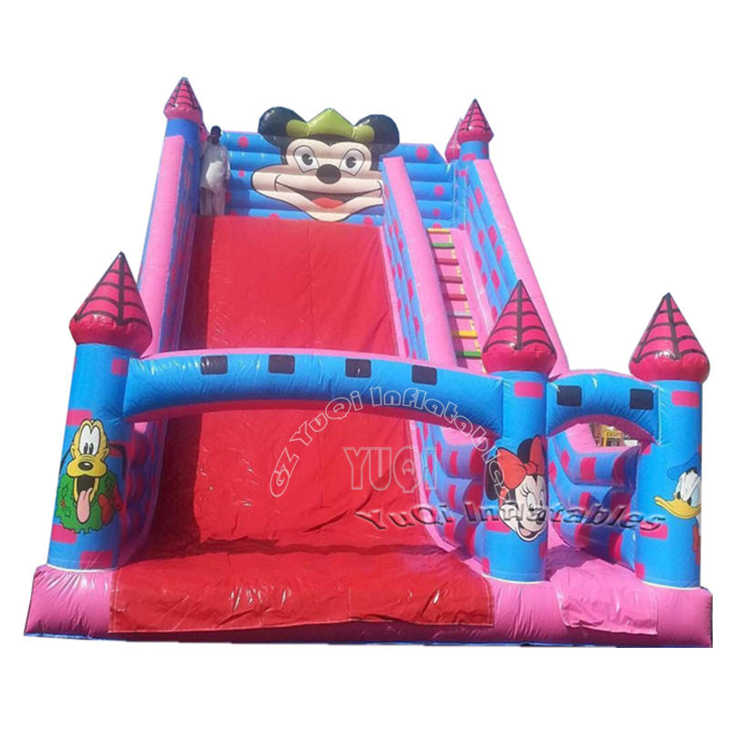 YQ332 Popular Mickey mouse inflatable slide for kids