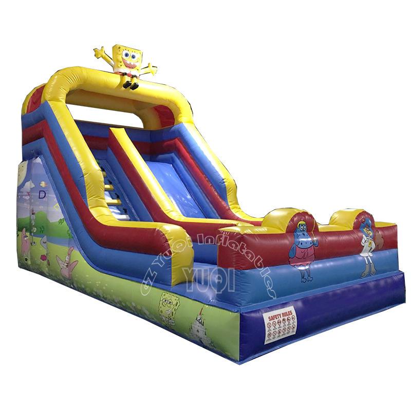 YQ334 Hot sale big slide inflatable cartoon SpongeBob