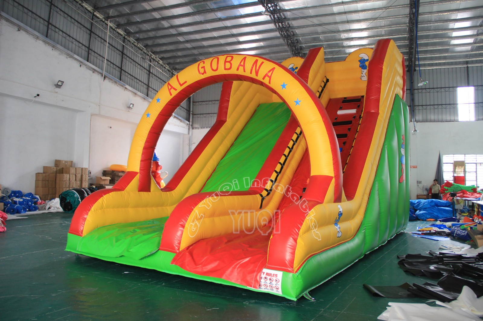 YUQI-Yq337 Cheap Price Inflatable Water Slide With Arch For Outdoor