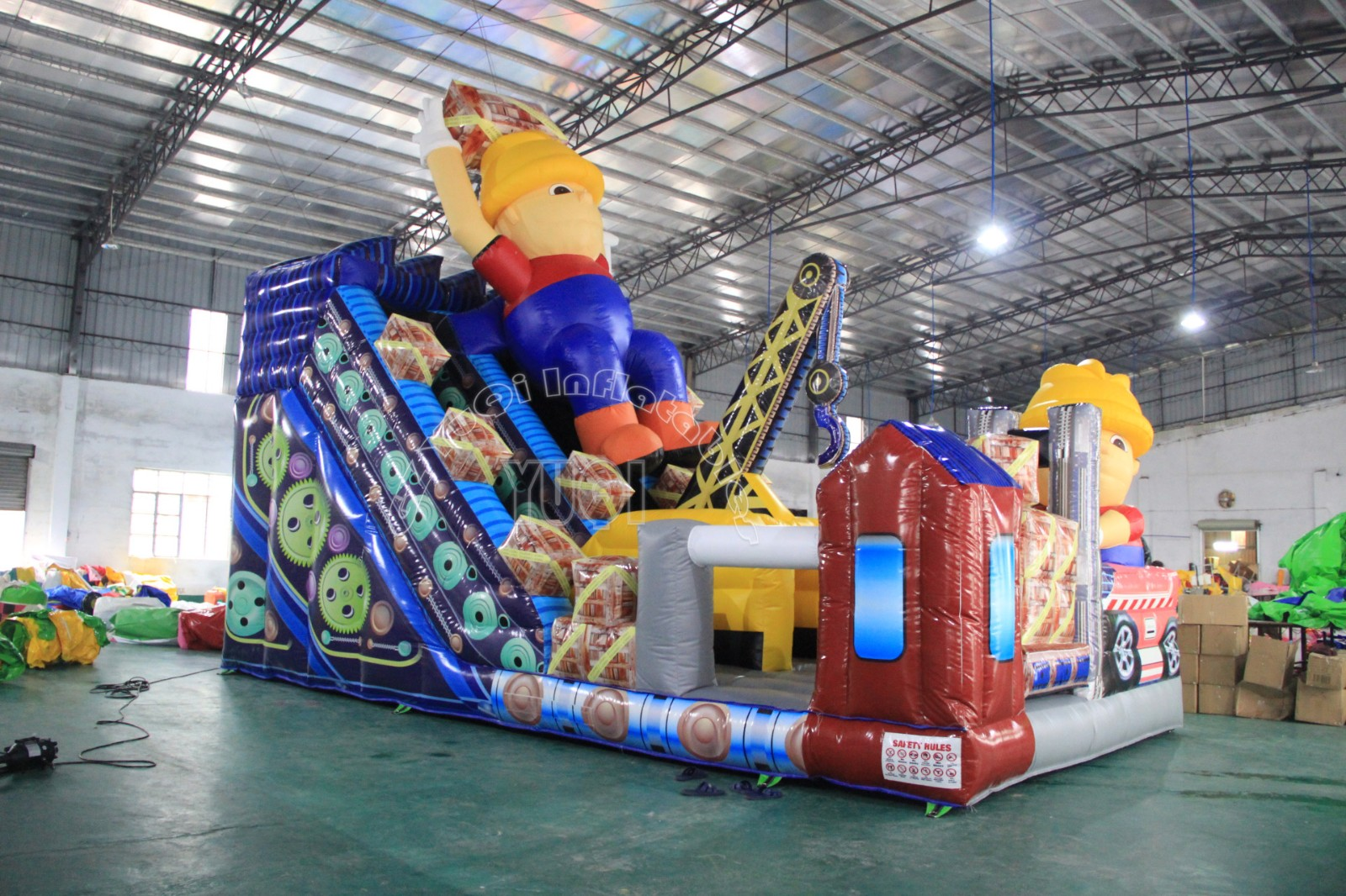 YUQI-Yq338 High Quality Blow Up Slide Inflatable Slide With Robot Theme