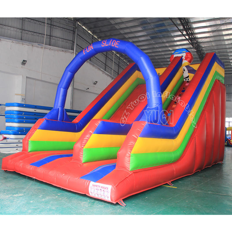 YQ339 The outdoor inflatable slide with plato material 0.55mm