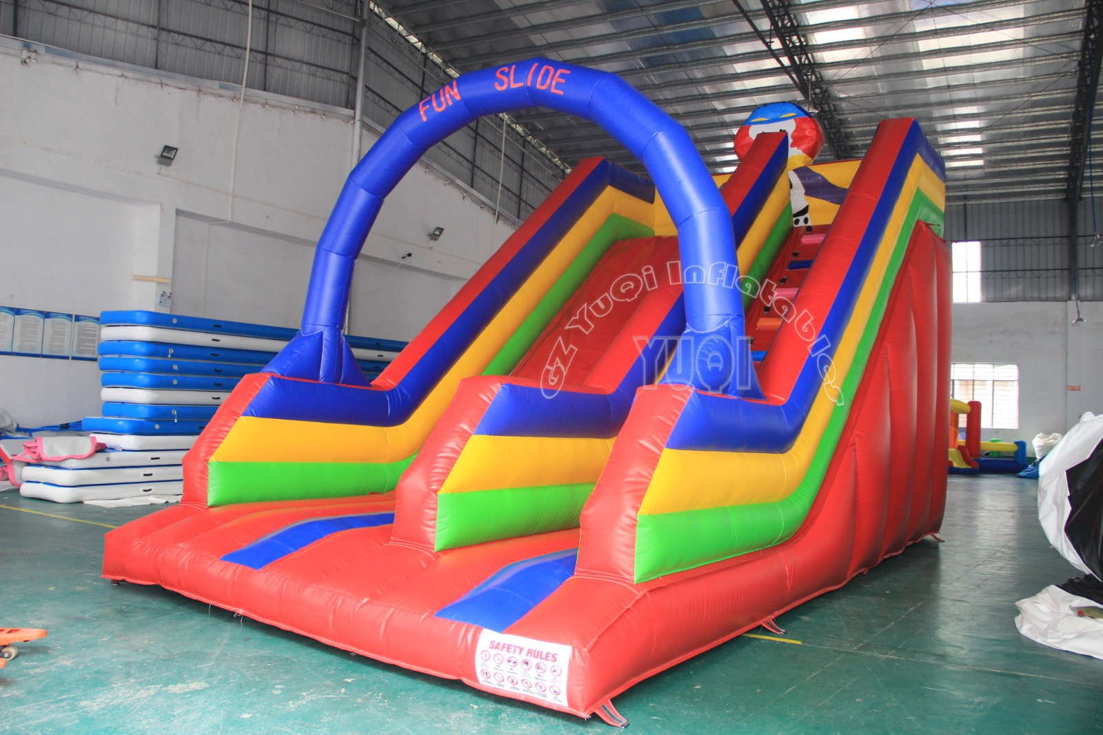 YUQI-Best Yq339 The Outdoor Inflatable Water Slide With Plato Material