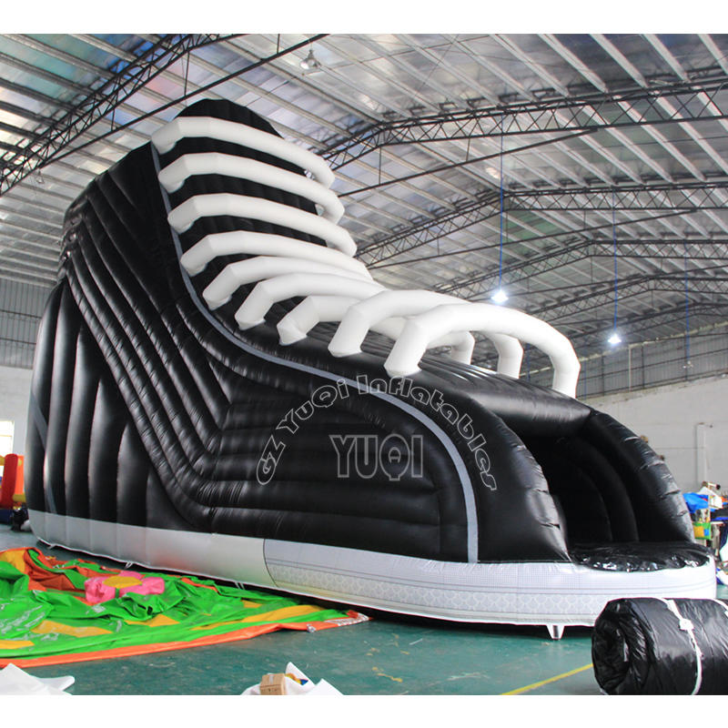 YQ340 New design shoes inflatable slide
