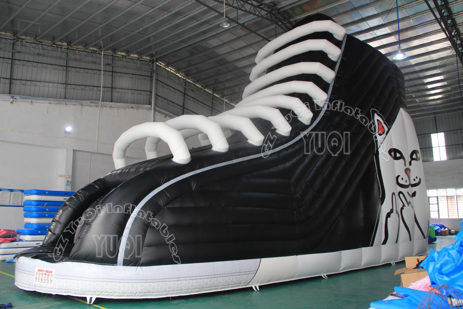 YUQI-High-quality Yq340 New Design Shoes Inflatable Blow Up Slide