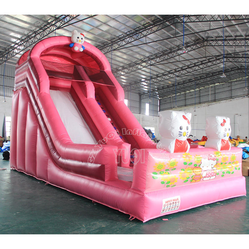 YQ341 New Hello Kittyy Slide Inflatable Slides