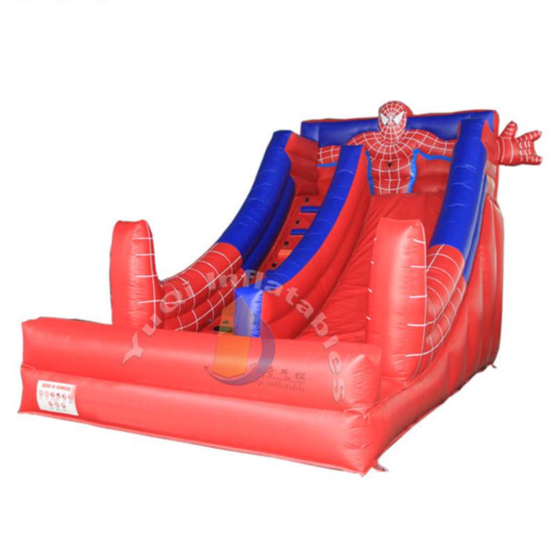 YQ342 Popular spiderman slide inflatable slides