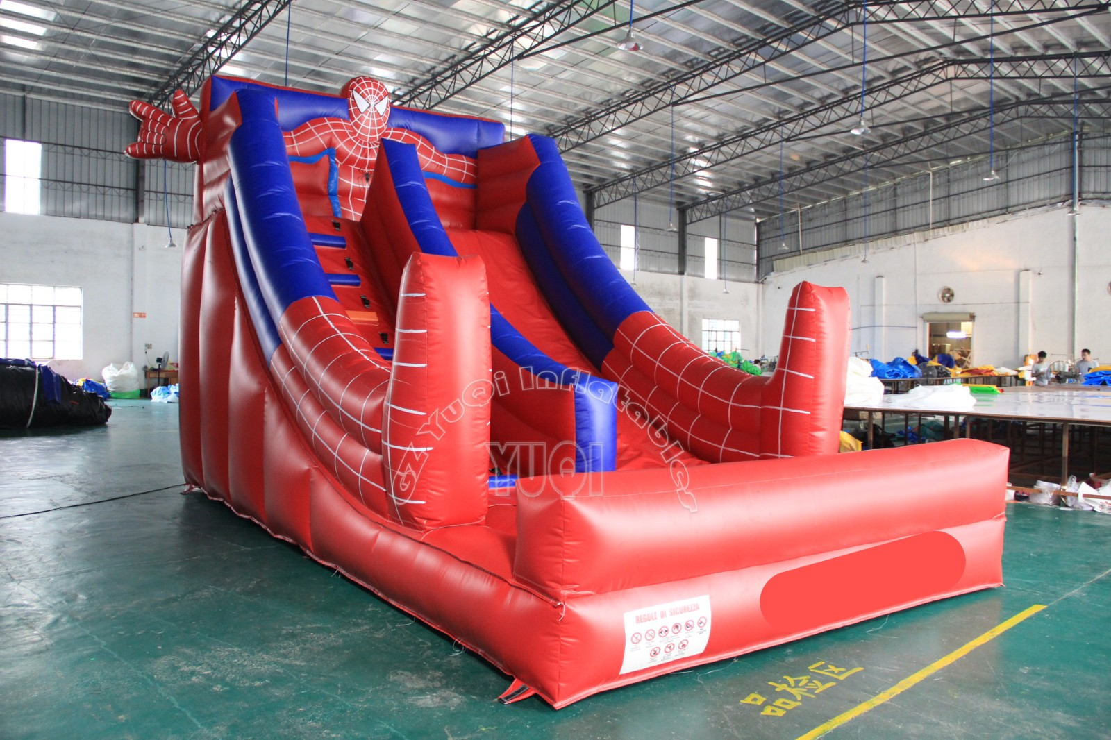 YUQI-Yq342 Popular Spiderman Blow Up Slide ,children Slide With