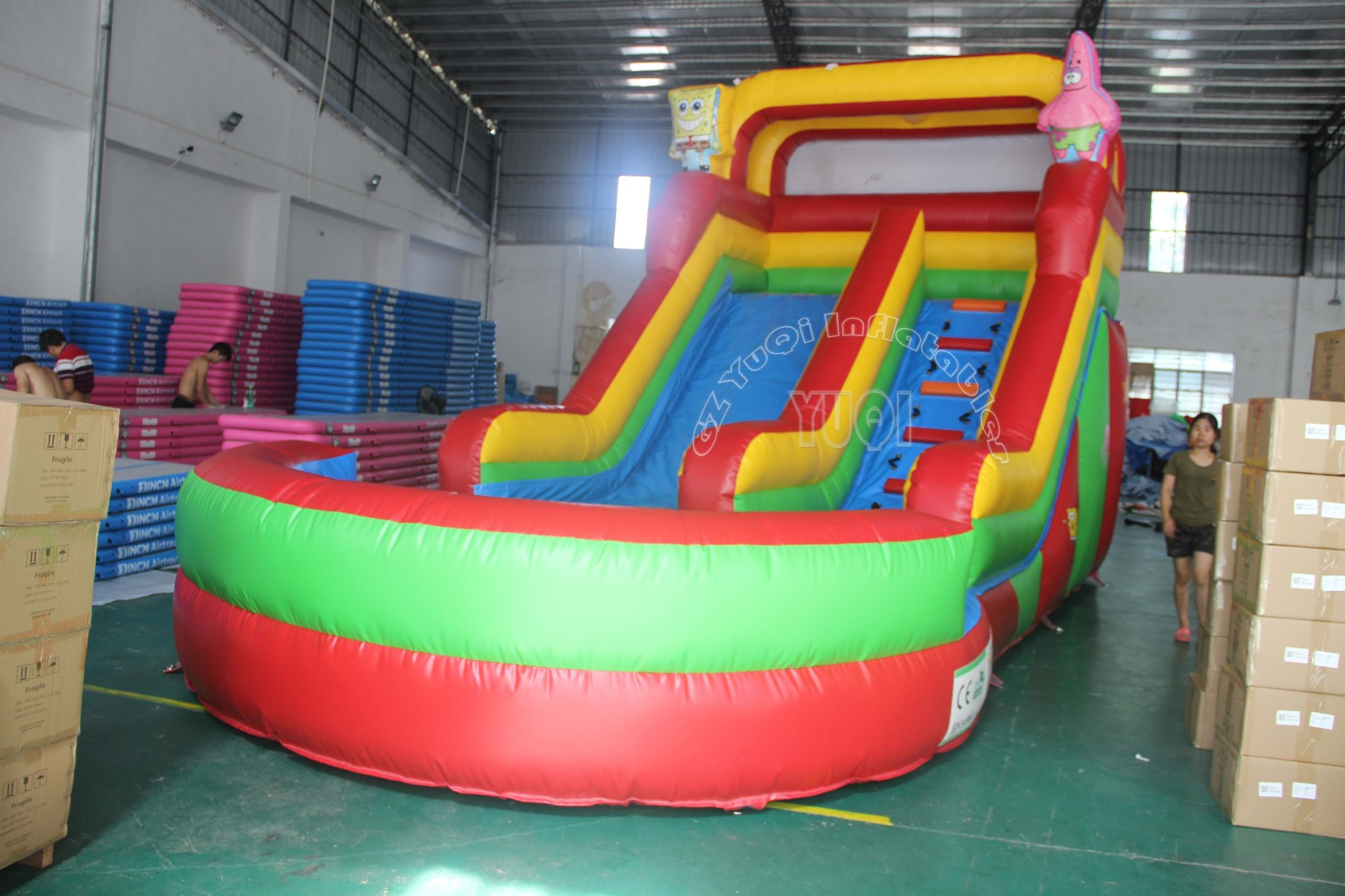 YUQI-Find Inflatable Pool Slide Floating Water Slide From Yuqi Inflatables