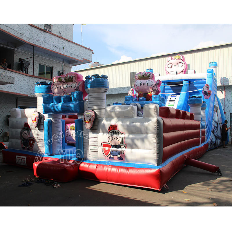 YQ614 Cartoon Soldier Inflatable amusement park for kids