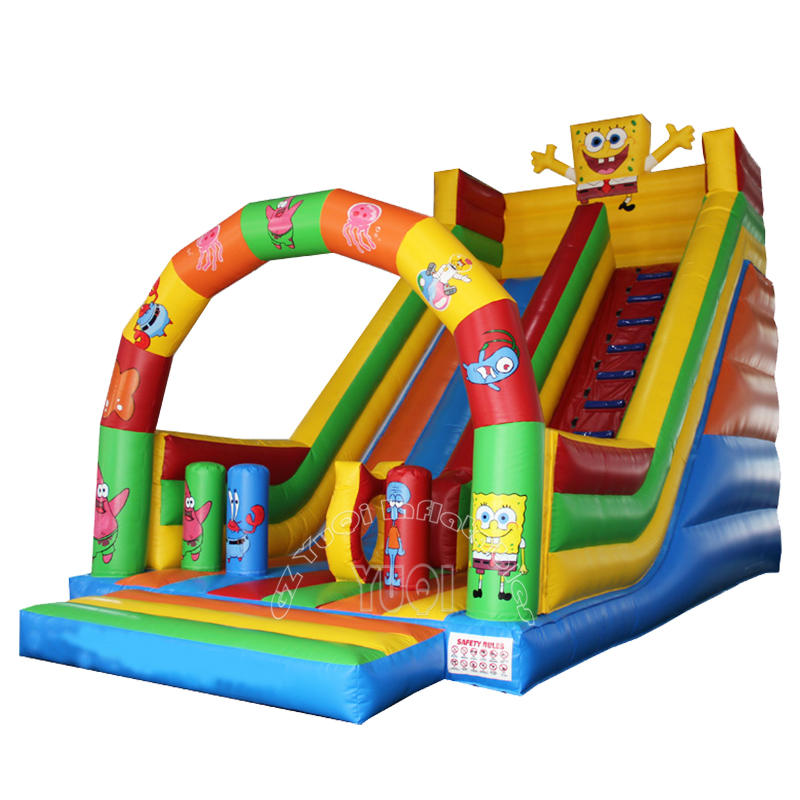 YQ348 Popular SpongeBob inflatable slide for kids