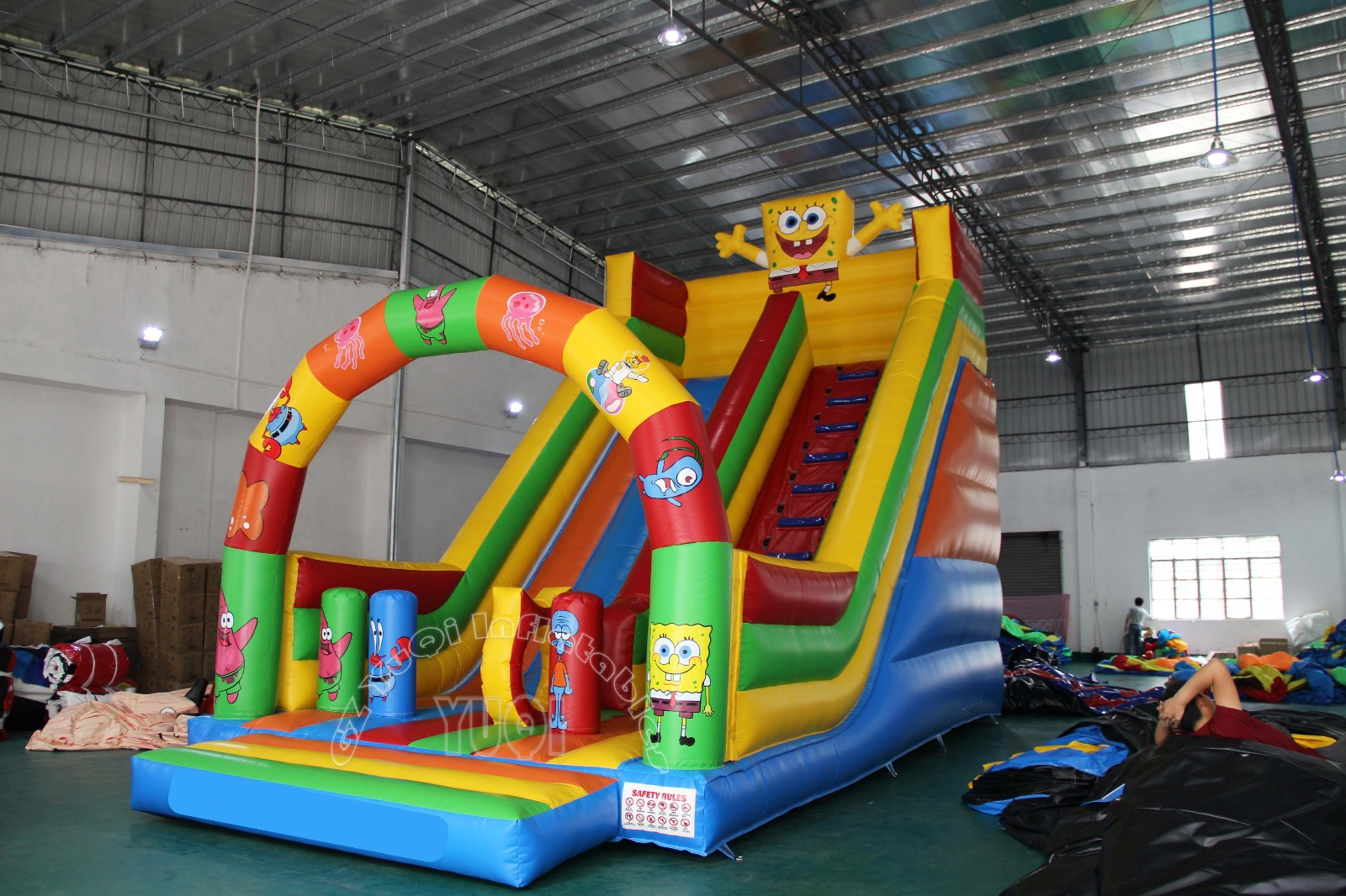YUQI-Best Yq348 Popular Inflatable Pool Slide For Kids Outdoor