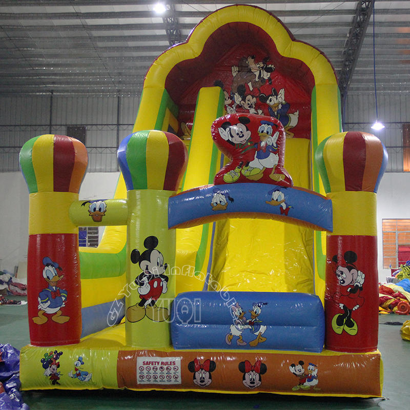 inflatable slide micky mouse commercial use inflatable dry slide