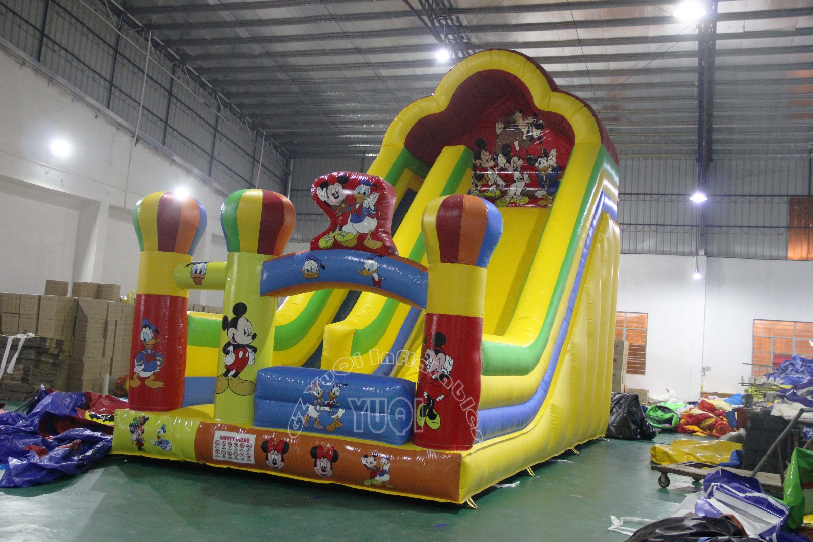 YUQI-Yq349 Material Giant Inflatable Slide Micky Mouse Commercial
