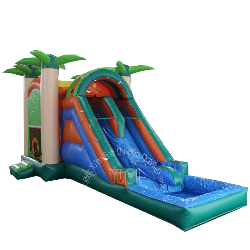 YQ350 Outdoor jumping bounce house giant inflatable water slide for adult