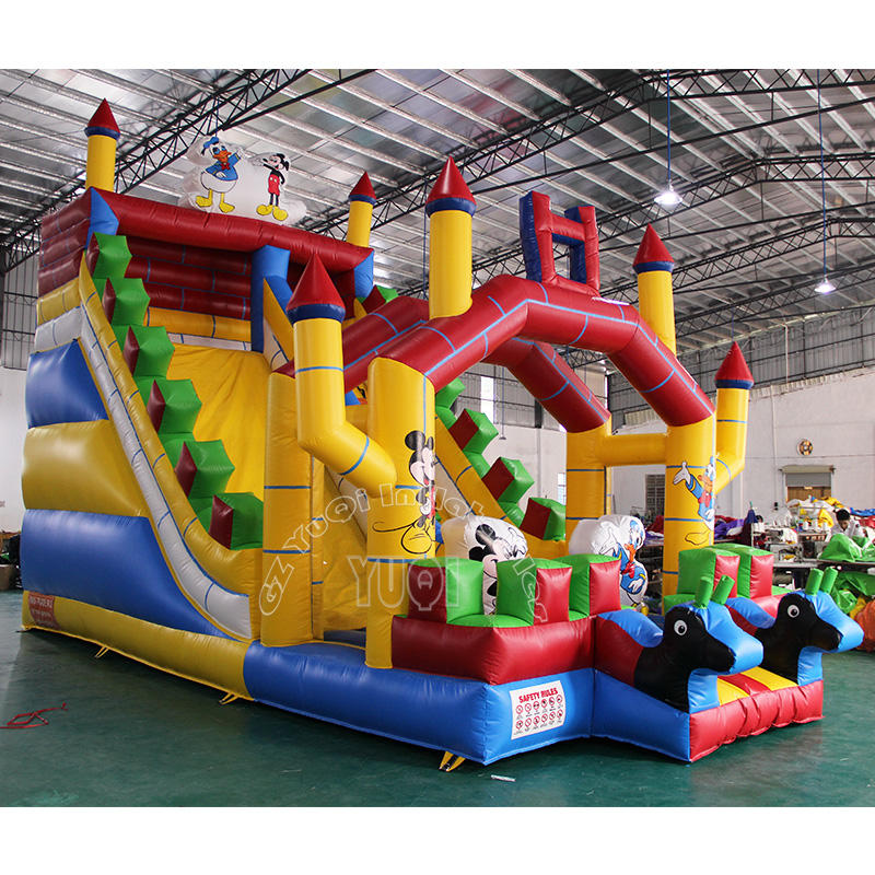 YQ352 Cute Cartoon Inflatable Slides best sale slides for kids