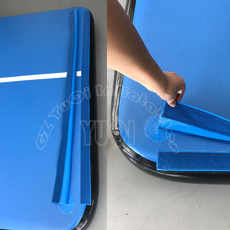 Inflatable Gymnastics Tumbling Mat Air Track Floor Mats with Pump Home Use Blue YQ750