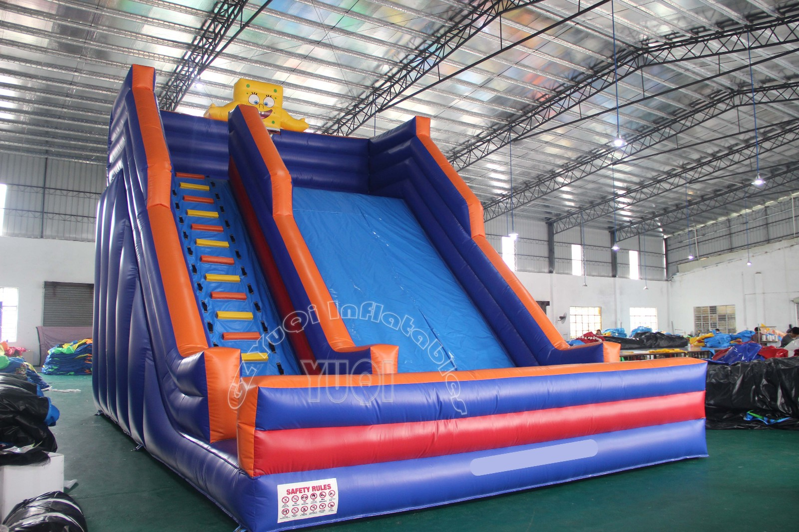 YUQI-Giant 30 Foot Inflatable Water Slide For Sale Yq354 | Factory
