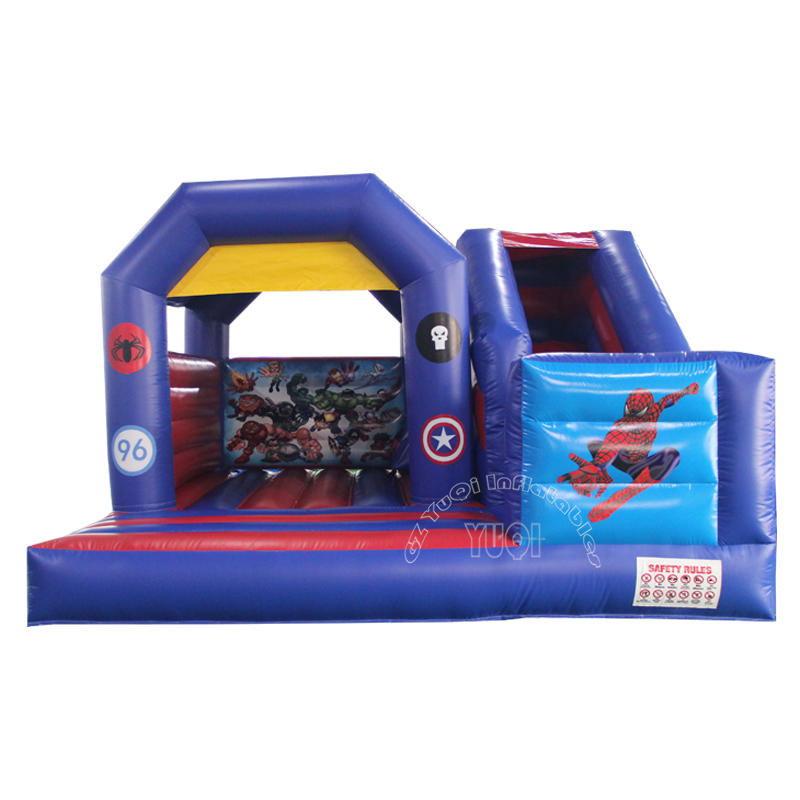 Kids inflatable spider man bouncer with slide for sale YQ59