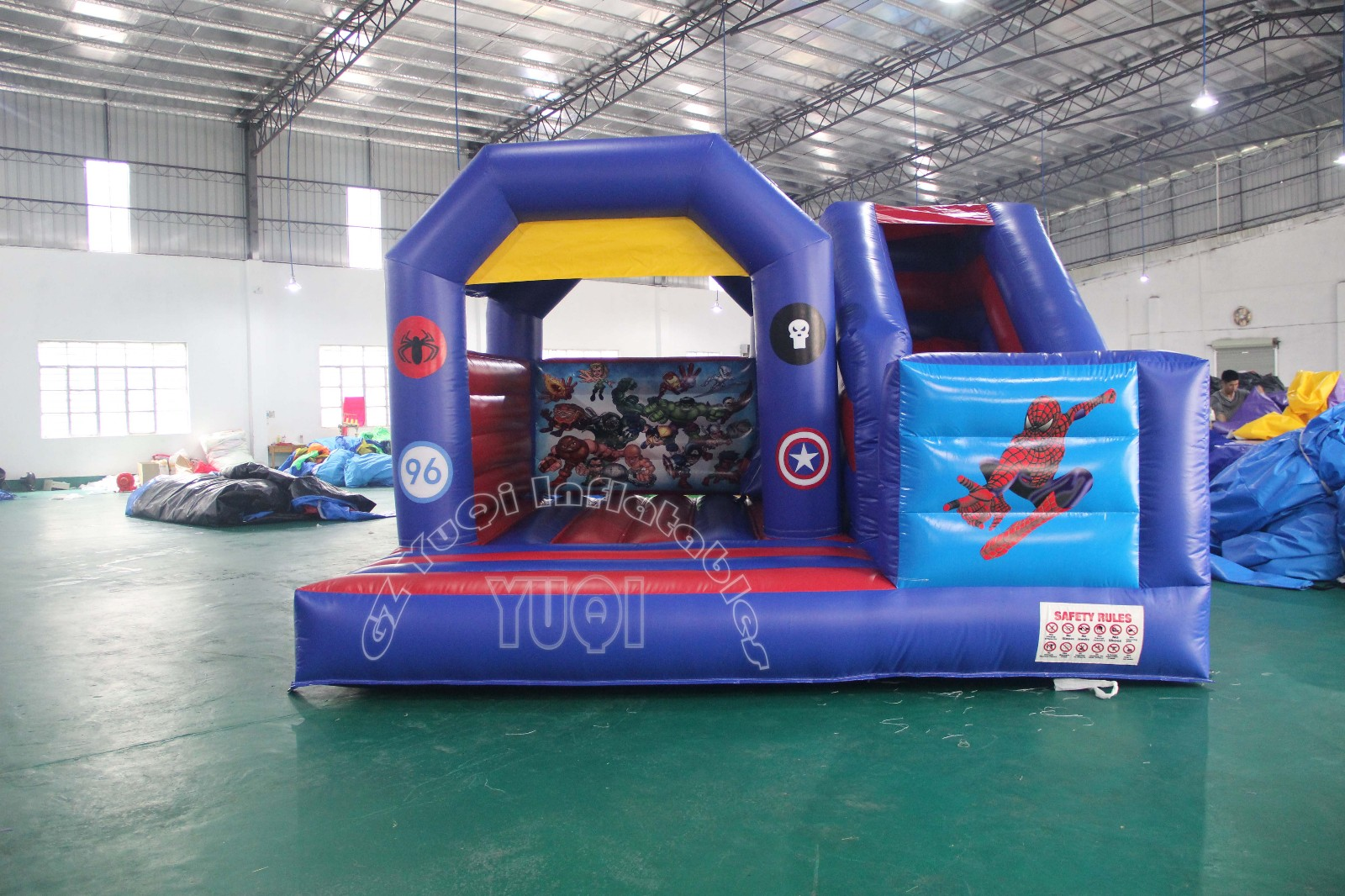 YUQI-Bounce House Combo And Commercial Bounce House With Slide