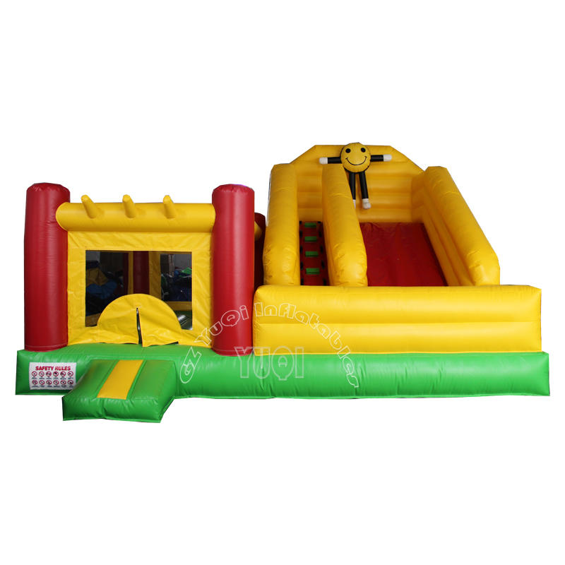 Commercial inflatable jumping castle with small slide for sale YQ51