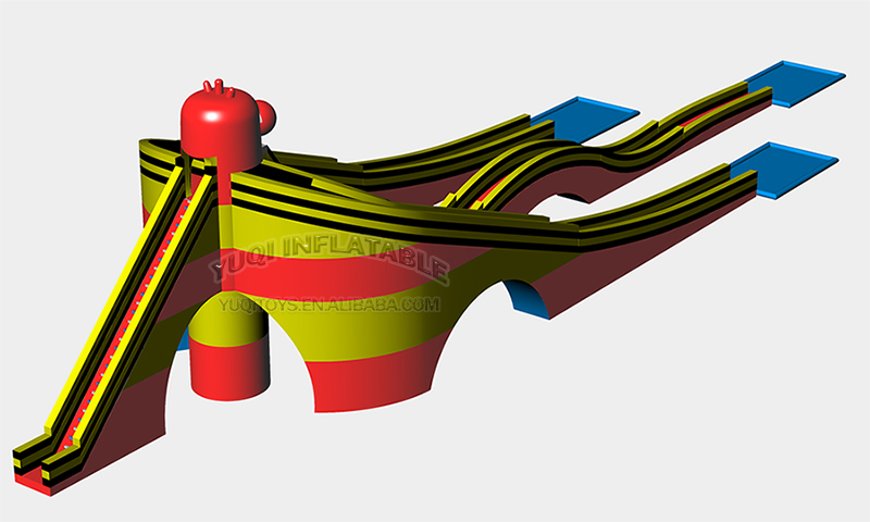 YUQI-Adult Giant Inflatable Triple Water Pool Slide Bouncing Slide