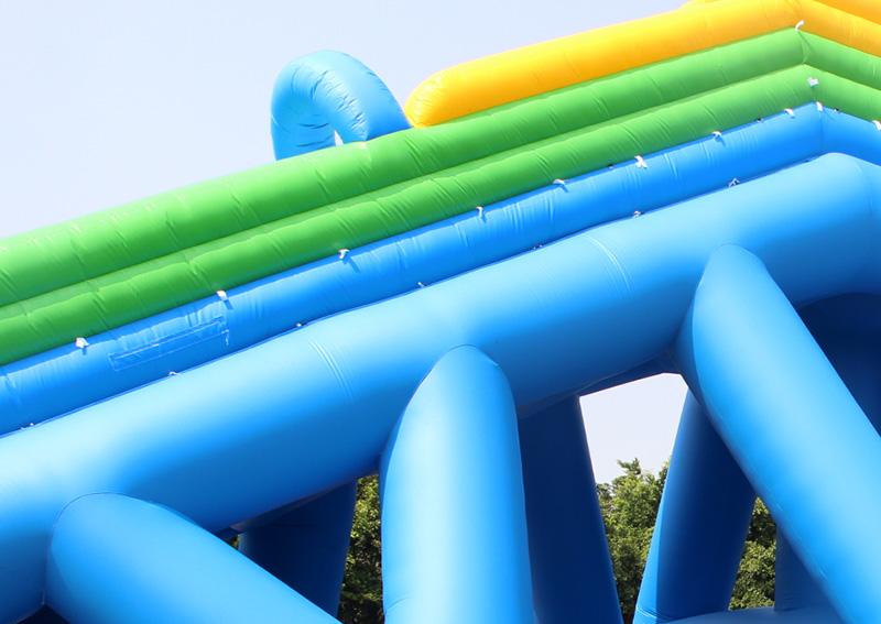 YUQI-Adult Giant Inflatable Triple Water Pool Slide Bouncing Slide-4