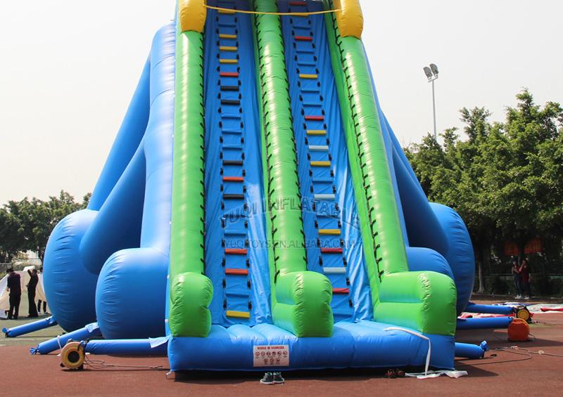 YUQI-Adult Giant Inflatable Triple Water Pool Slide Bouncing Slide-5
