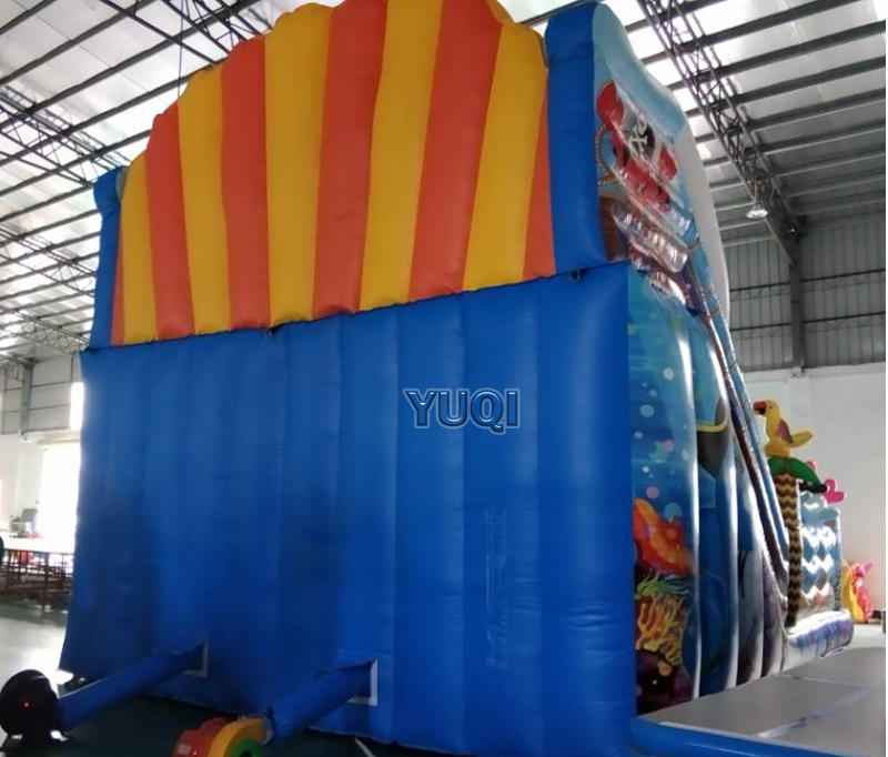 Inflatable pirate slide | inflatable sea world bouncing  jumping slide,