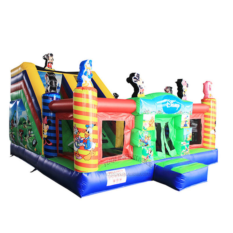 Backyard inflatable Disney Donald Duck Micky Mouse kids combo play ground