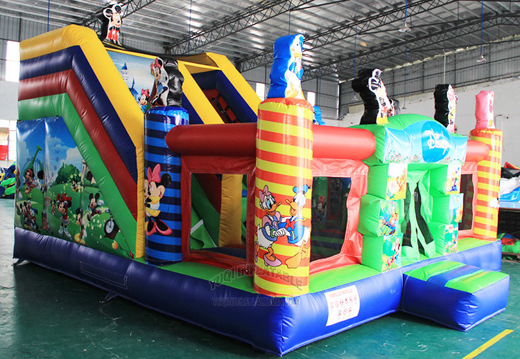 YUQI-Bounce House Slide Combo Co22 Forest Comb Inflatable Bouncing-10