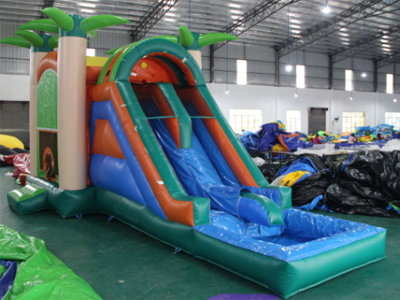 YUQI-Bounce House Slide Combo Co22 Forest Comb Inflatable Bouncing