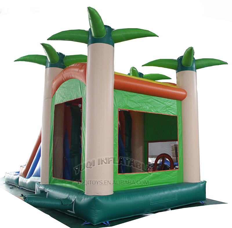 CO22 Tropical forest Comb inflatable bouncing N slide with pool