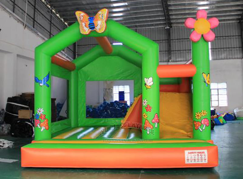 jumping house slide| inflatable bouncer slide combo