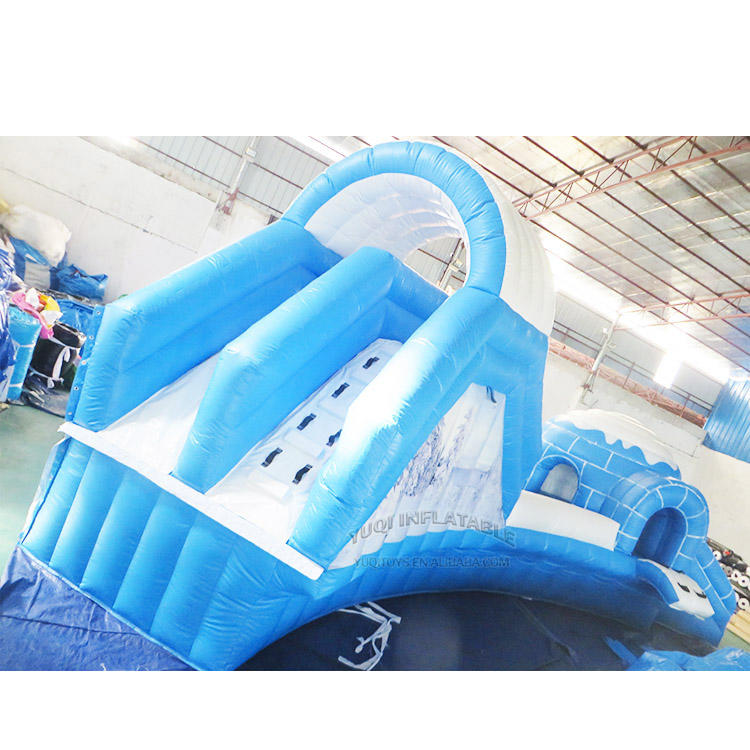 inflatable iceage splash water bouncing climbing slip pool park
