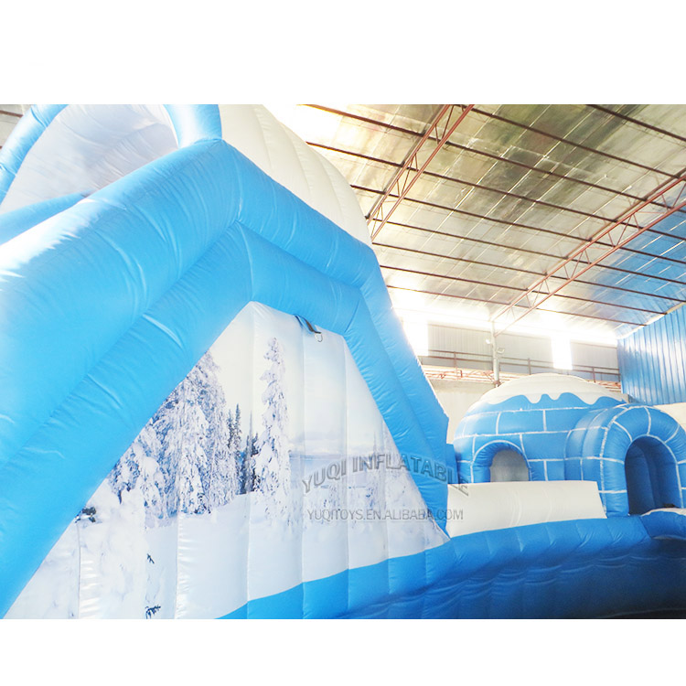 YUQI-YUQI Amusement inflatable iceage splash water bouncing pool park-2