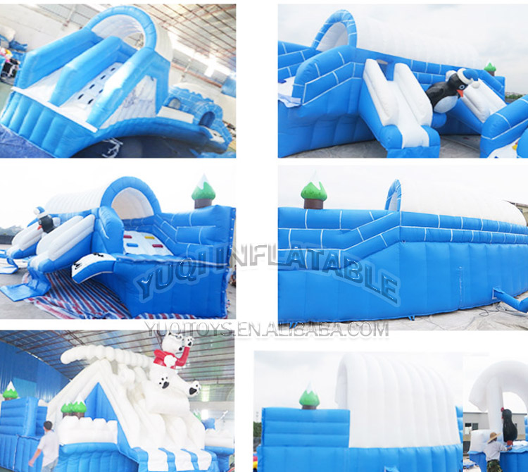 YUQI-YUQI Amusement inflatable iceage splash water bouncing pool park-1