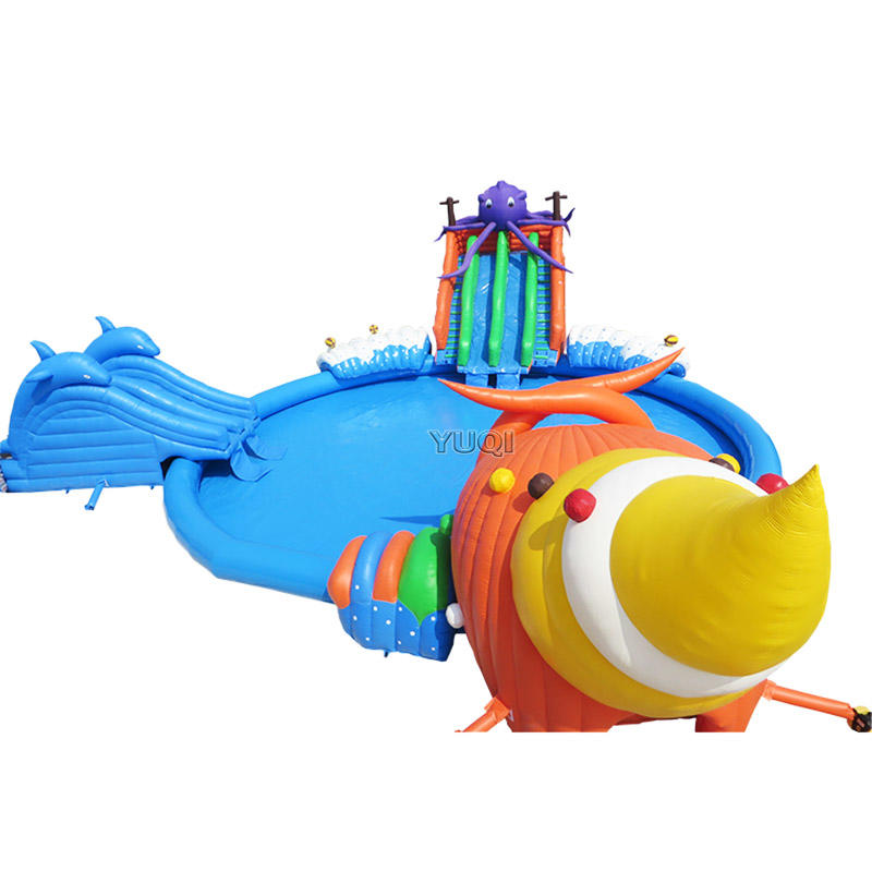 octopus dolphin theme water climibing sliding splash park
