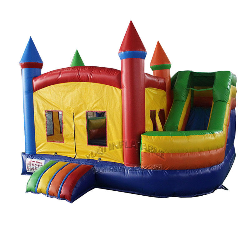 inflatable moonwalk bouncing jumping bouncy castle with slide combo