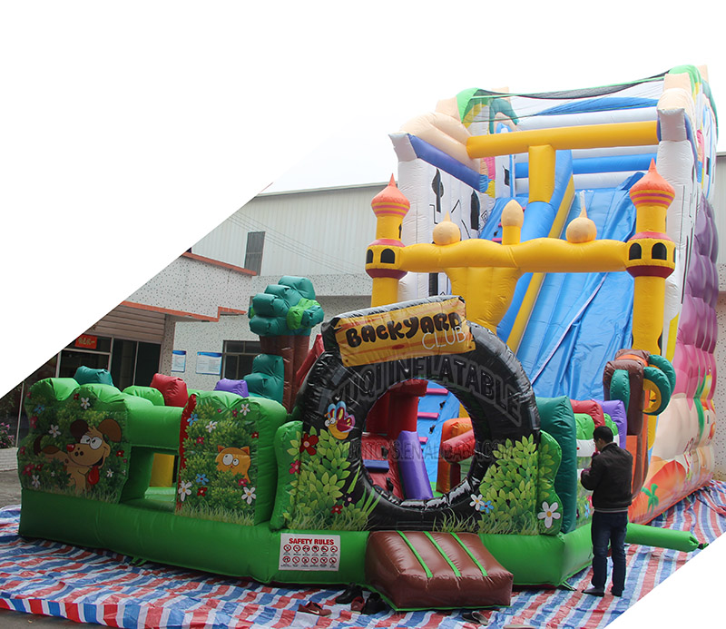YUQI-Best Amusement Park Inflatable Slide Yuqi Adult Inflatable