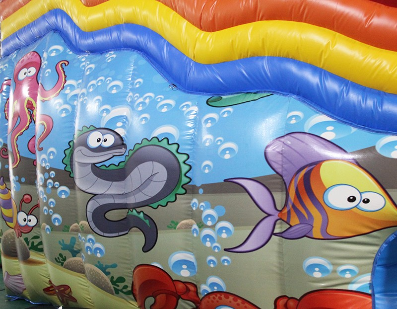 YUQI-YUQI Amusement play inflatable shark octopus bouncing slide park-7