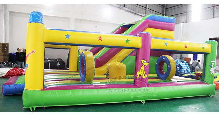 YUQI High quality certificate inflatable elsa frozen combo jumping park