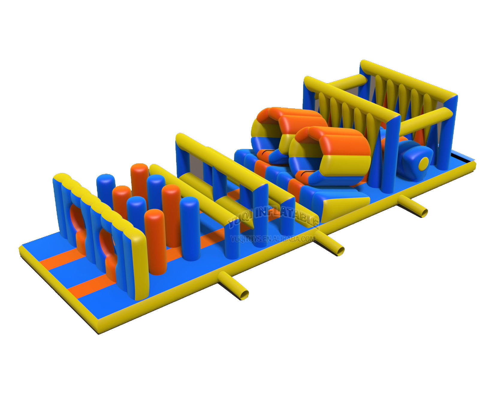 Outdoor Inflatable adventure obstacle course with certificates