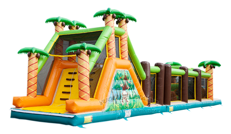 YUQI-Amusement park combo inflatable forest adventure challenge course-1