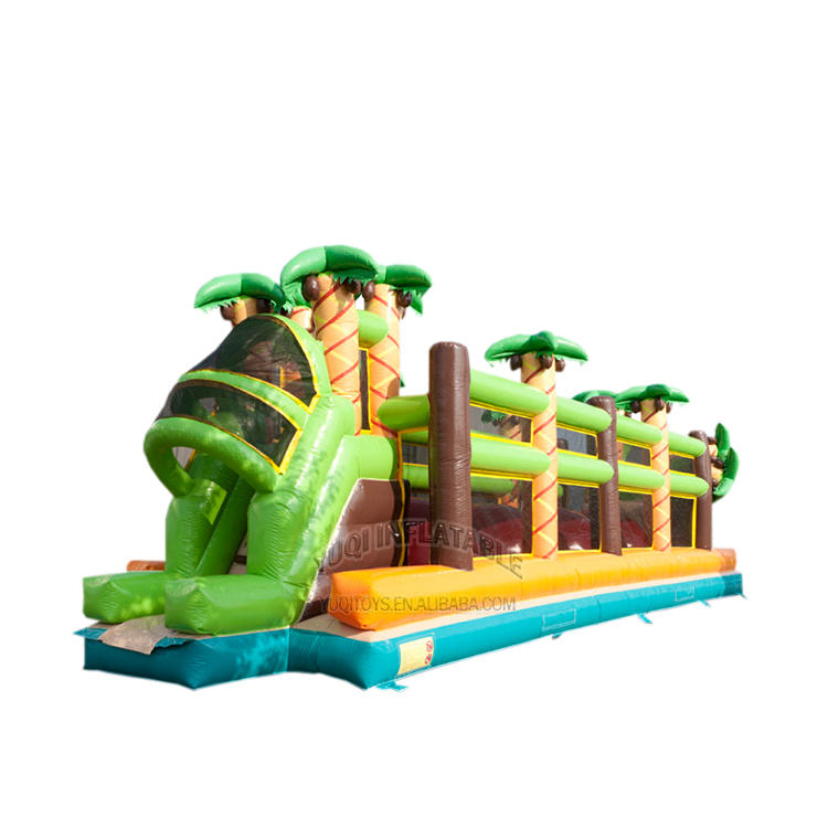 inflatable forest adventure challenge obstacle course