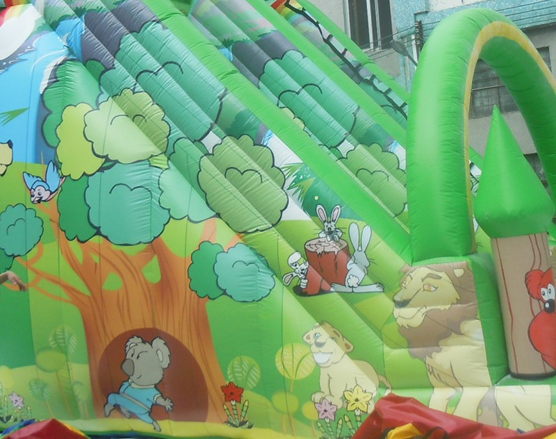 YUQI-Amusement park combo inflatable forest adventure challenge course-7