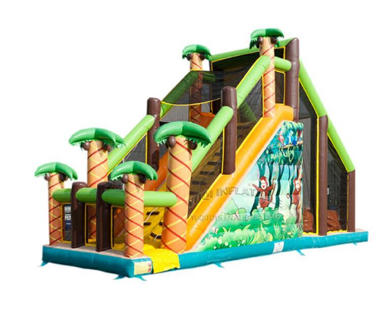 YUQI-Amusement park combo inflatable forest adventure challenge course-12