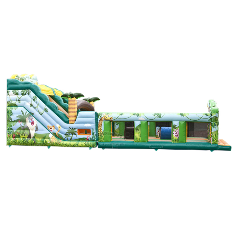 YUQI-Inflatable Water Obstacle Course Mesh Pvc Made Inflatable Jungle