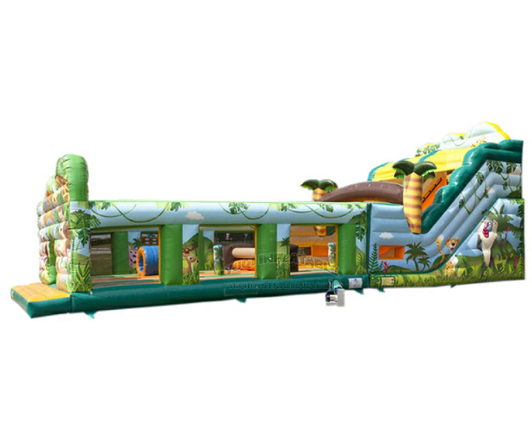 YUQI-Inflatable Water Obstacle Course Mesh Pvc Made Inflatable Jungle-12